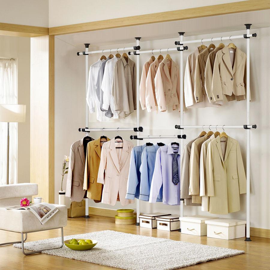DIY Hanger Rack  ToolsFree Garment Rack DIY Coat Hanger Clothes Wardrobe 4