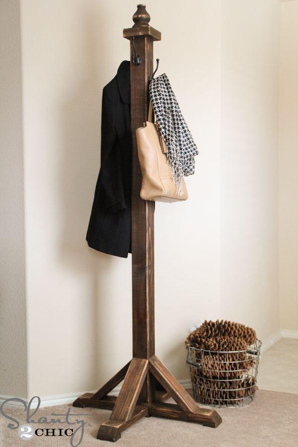 DIY Hanger Rack  12 Creative DIY Coat Racks