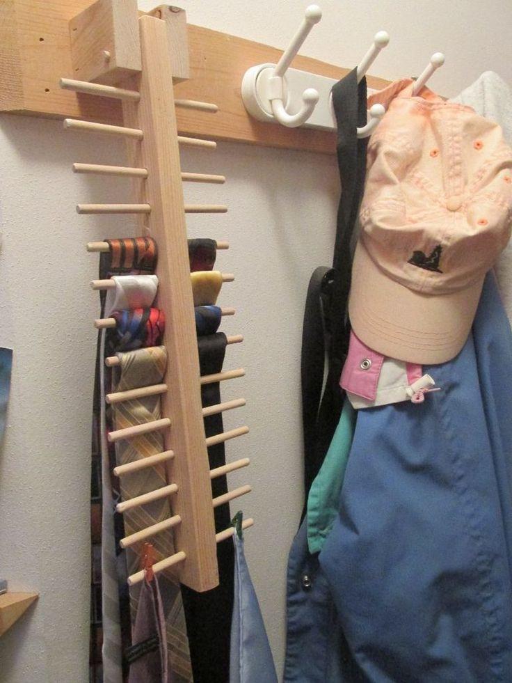 DIY Hanger Rack  25 best Tie rack ideas on Pinterest