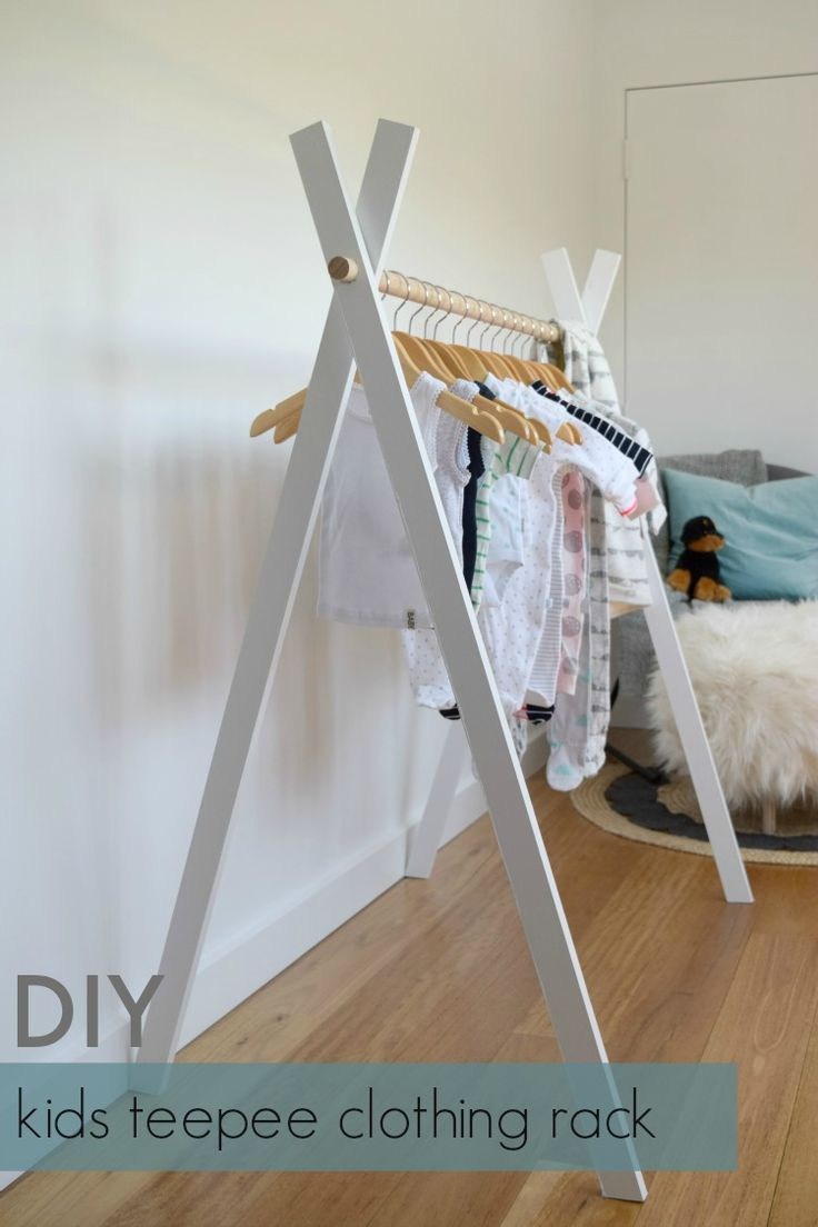 DIY Hanger Rack  Best 25 Clothing racks ideas on Pinterest