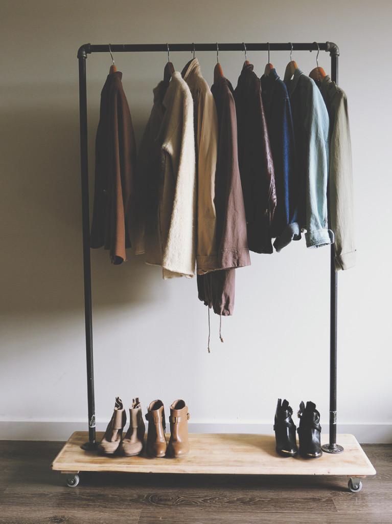 DIY Hanger Rack  DIY Garment Rack Tutorial Kirsten Zellers