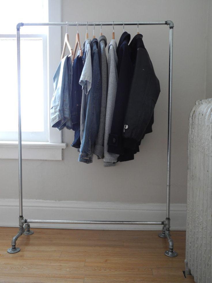 DIY Hanger Rack  340 best Pipe Clothing Racks images on Pinterest