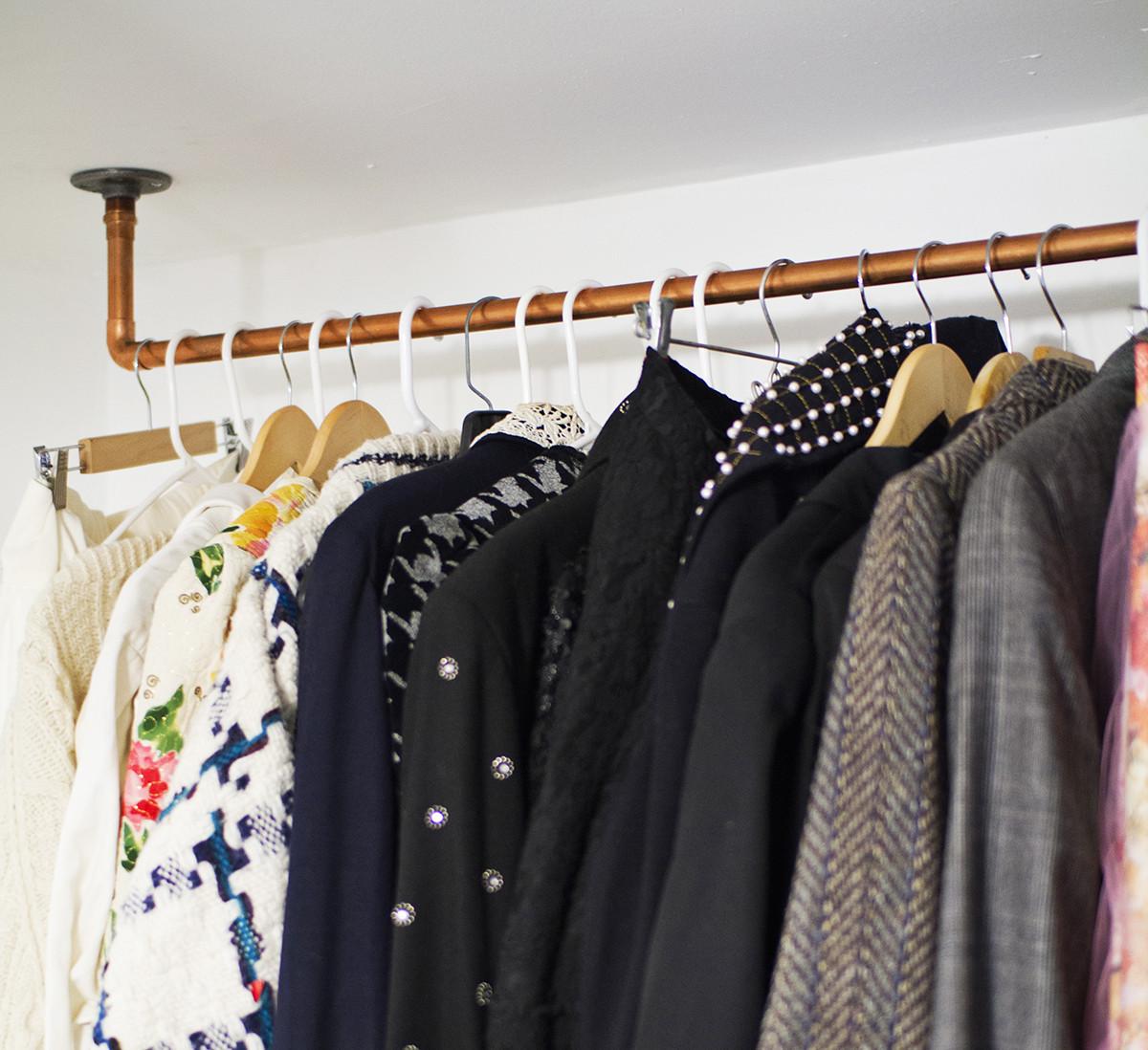 DIY Hanger Rack  23 Pipe Clothing Rack DIY Tutorials