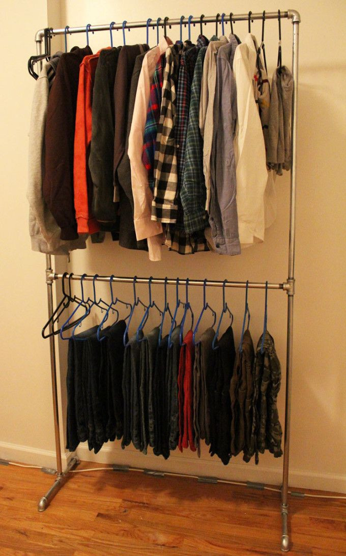 DIY Hanger Rack  25 best ideas about Pipe clothes rack on Pinterest