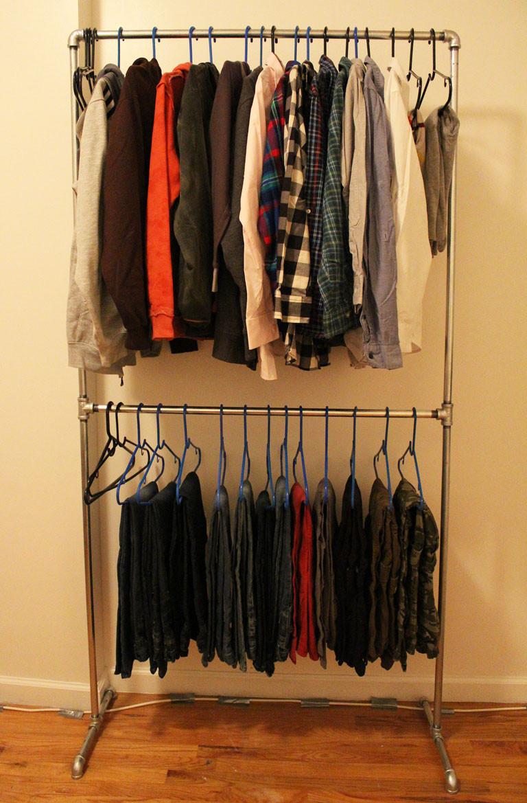 DIY Hanger Rack  DIY Pipe Clothing Rack