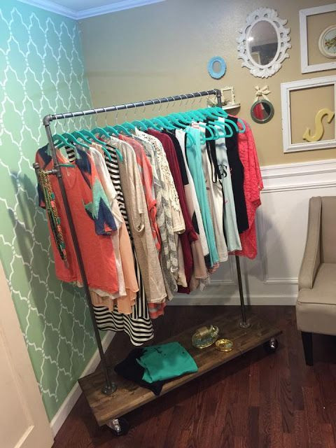 DIY Hanger Rack  e Thrifty Chick DIY Clothing Rack 30 minute project