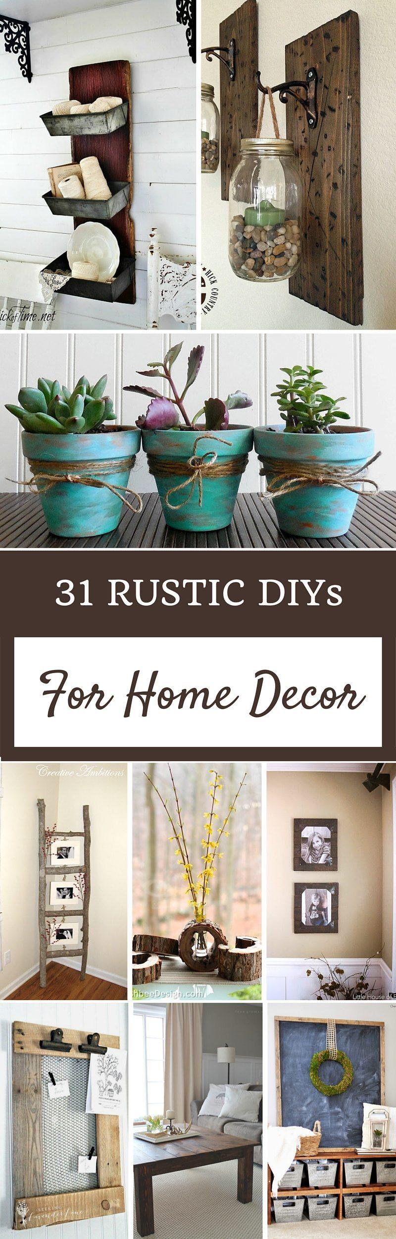 DIY Home Decorating Pinterest  Rustic Home Decor Ideas