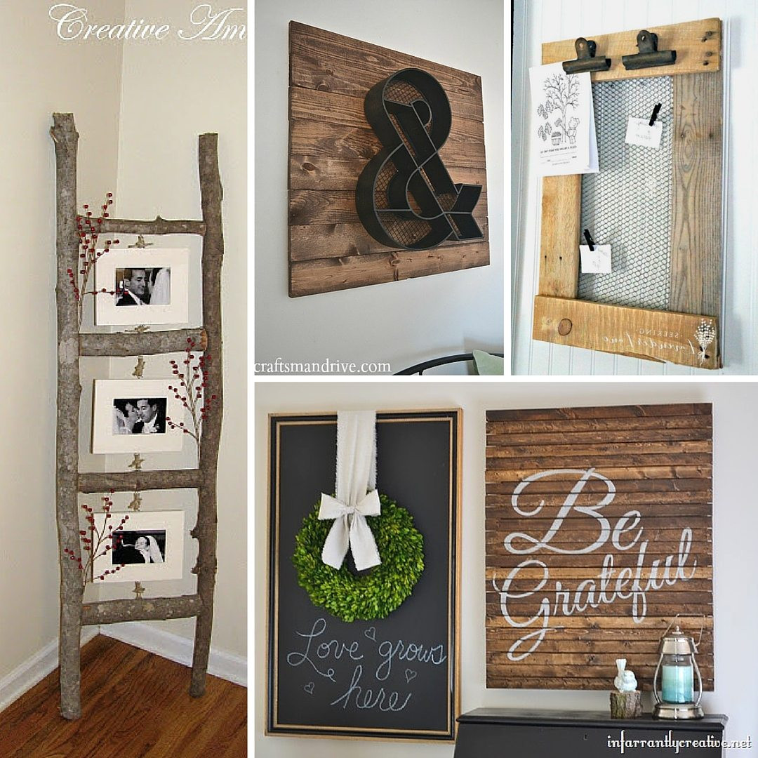 DIY Home Decorating Pinterest  31 Rustic DIY Home Decor Projects