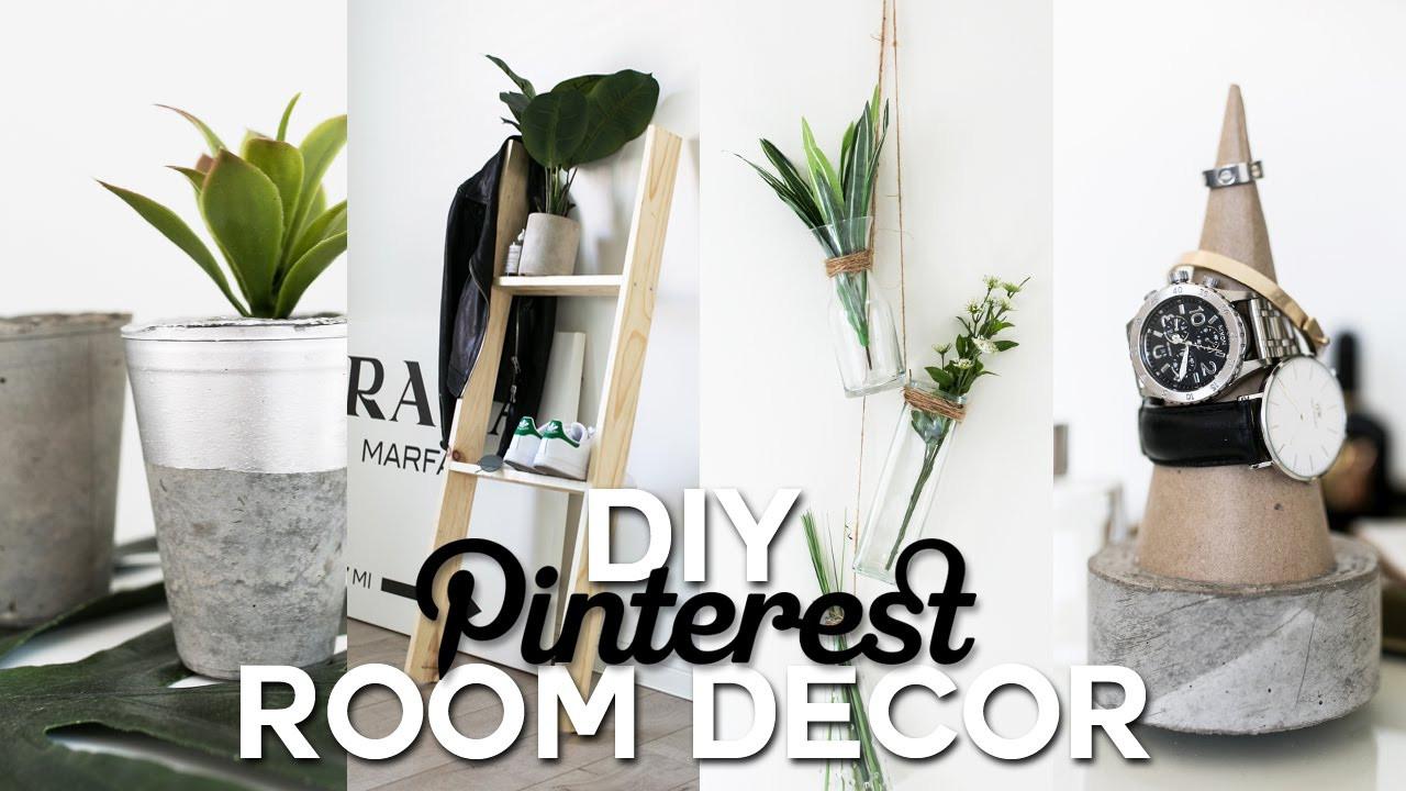 DIY Home Decorating Pinterest  DIY Pinterest Inspired Room Decor Minimal & Simple