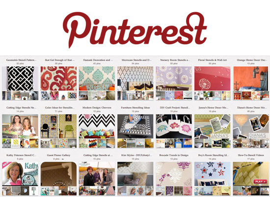 DIY Home Decorating Pinterest  Get Stenciling and DIY Decorating Ideas through Pinterest