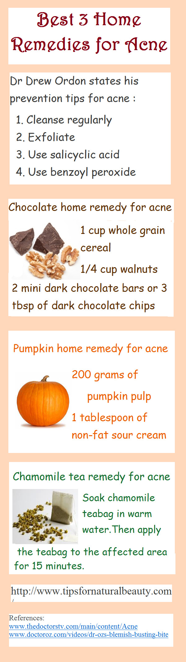 DIY Home Remedies  Three DIY Home Reme s for Acne Infographic