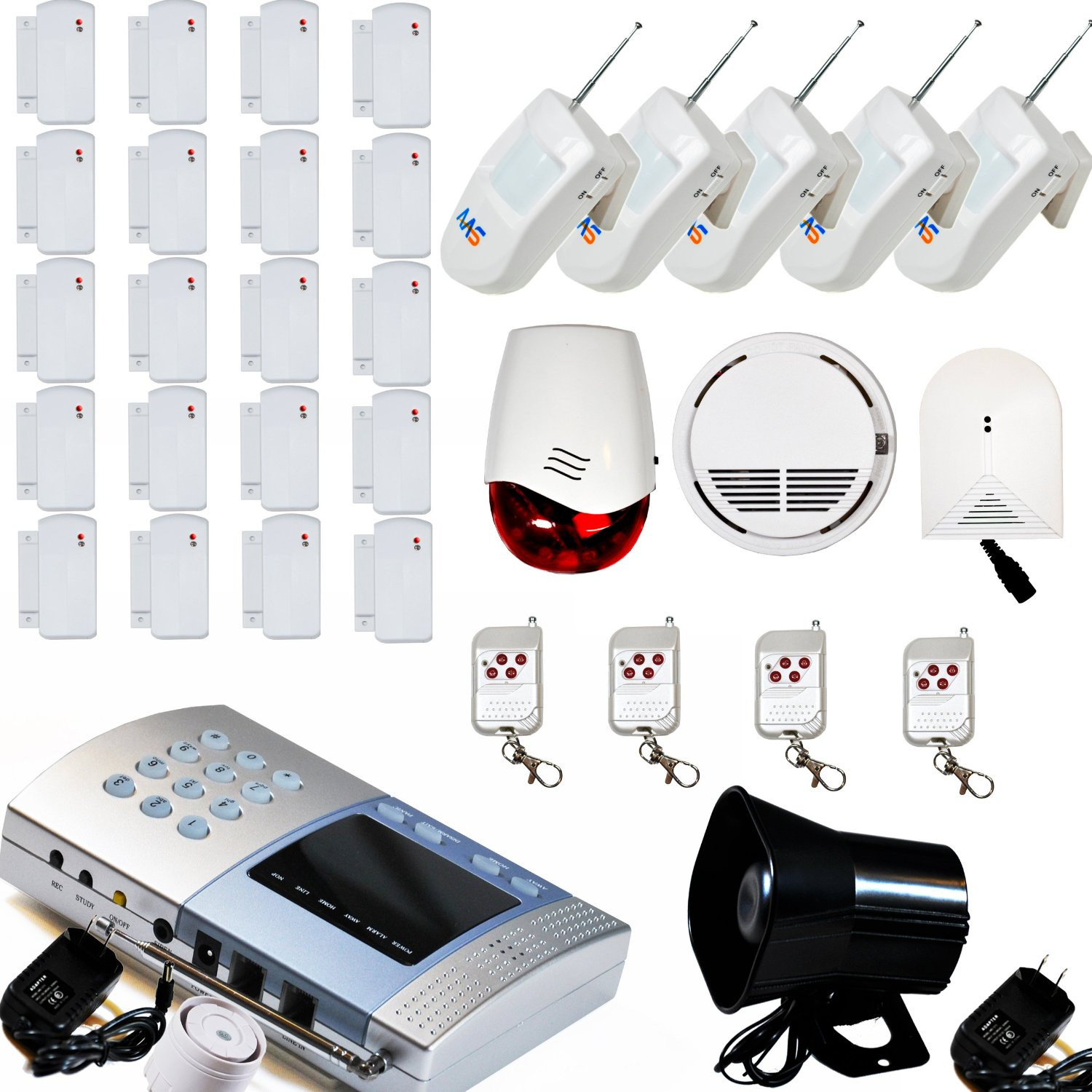 DIY Home Security Monitoring  AAS V600 Wireless Home Security Alarm System Kit DIY