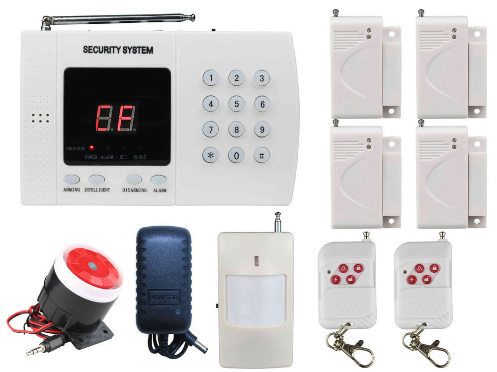 DIY Home Security Monitoring  A07 PSTN Wireless Smart DIY Home Alarm Security Burglar