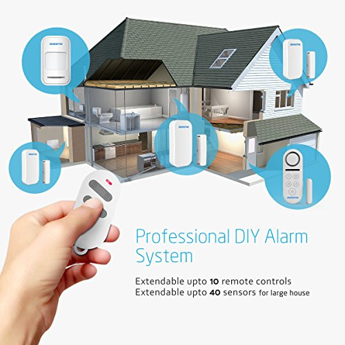 DIY Home Security Monitoring  BIBENE Professional DIY Home Alarm System 4 Modes to DIY