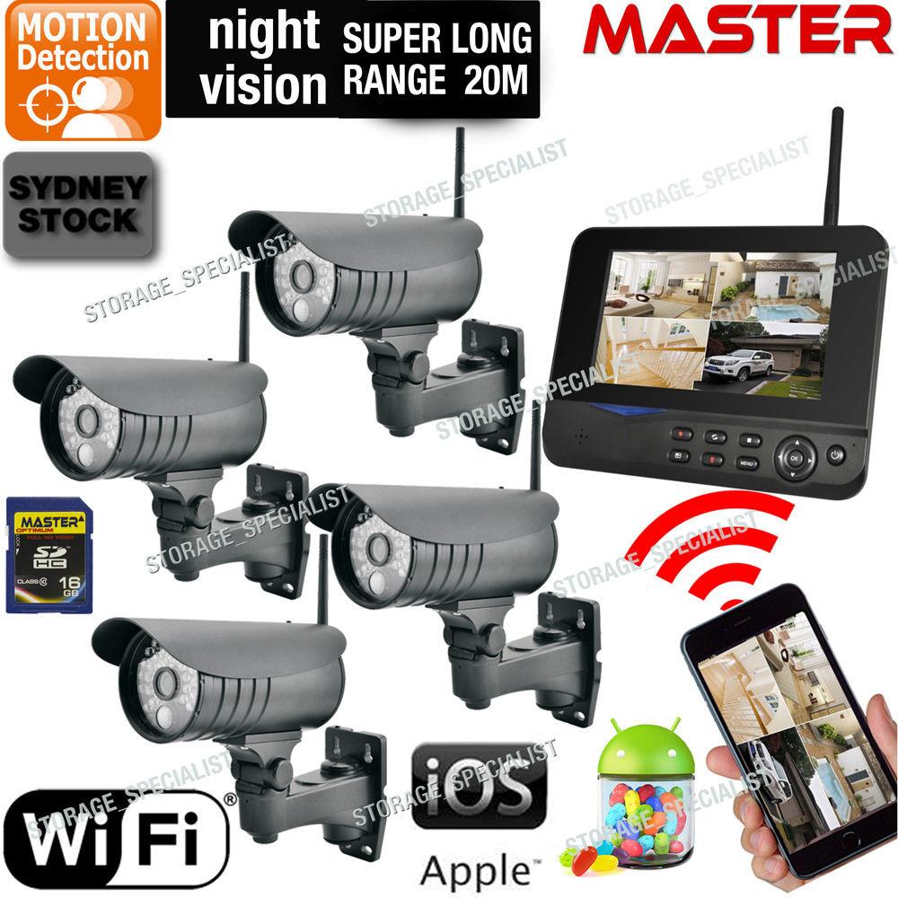 DIY Home Security Systems With Cameras  DIY Outdoor Security Cameras Wireless IP CCTV Home Video