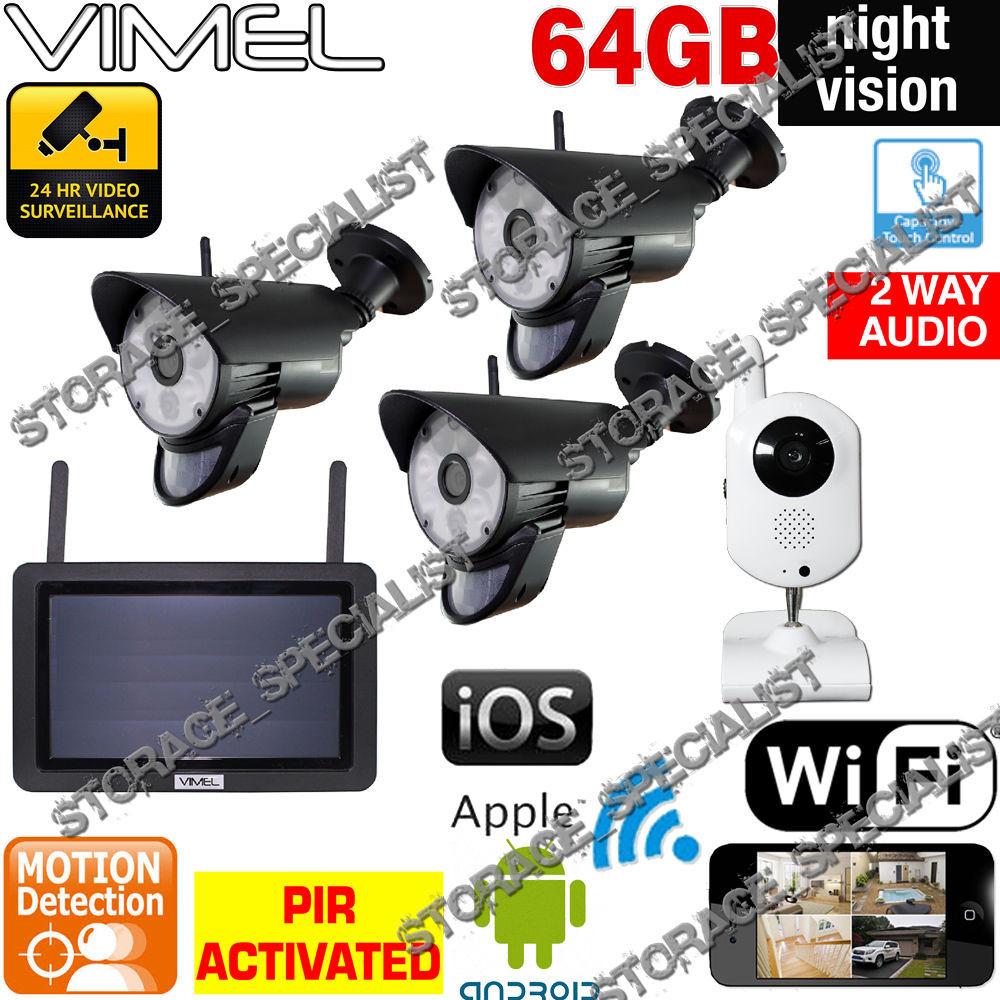 DIY Home Security Systems With Cameras  DIY Home Security Cameras Alarm System CCTV WIFI Mobile