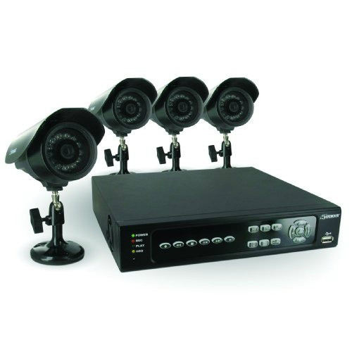 DIY Home Security Systems With Cameras  Video Security Camera System with 4 Channels