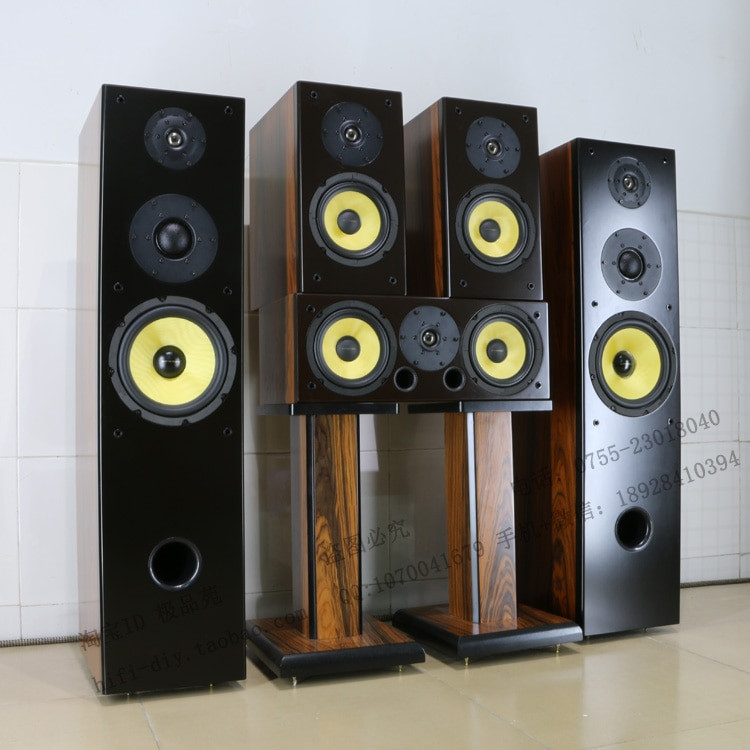 DIY Home Theater Speakers  Swans 5 1 home theater DIY 8 inch Acoustic speakers Front
