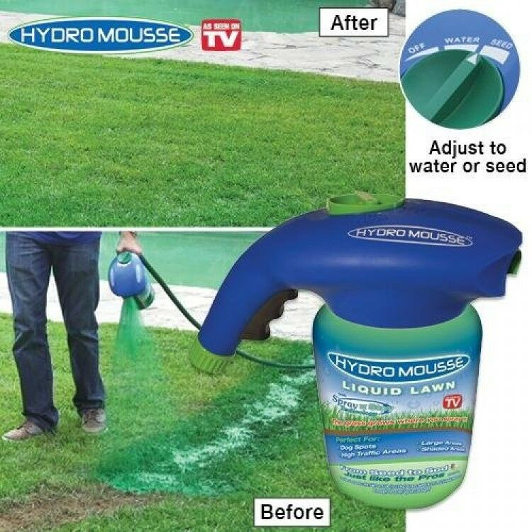 DIY Hydroseed Kit  Hydro Mousse Liquid Lawn New Free Shipping