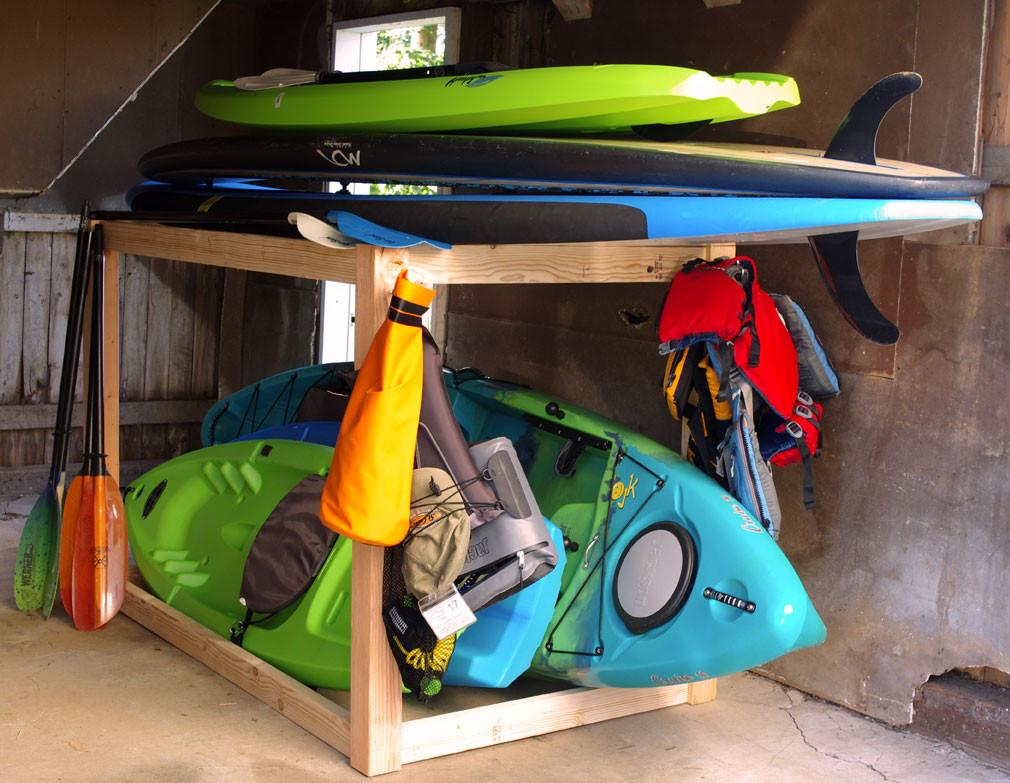DIY Kayak Storage Rack  Kayak and SUP Storage Rack A Simple DIY Project Create