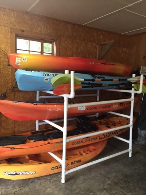 DIY Kayak Storage Rack  DIY Kayak Rack Yak OutlawsYak Outlaws