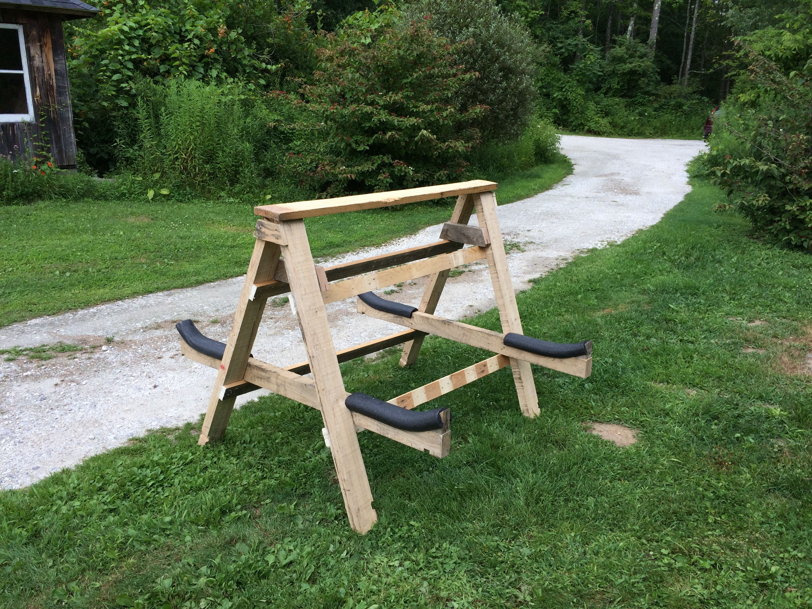DIY Kayak Storage Rack  DIY Kayak Storage Rack All you need are some 2x4 s I used