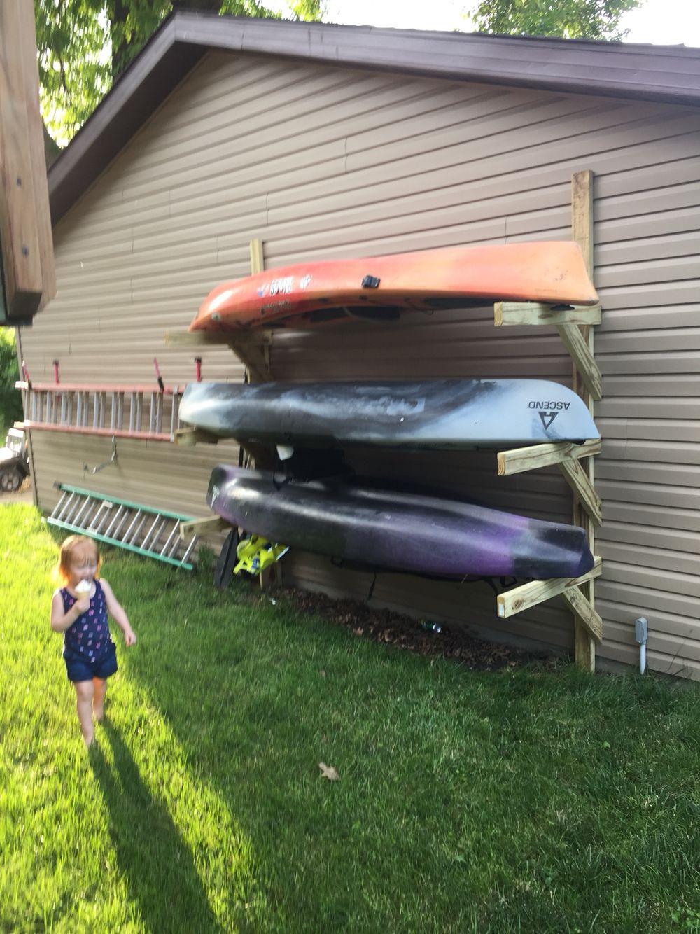 DIY Kayak Storage Rack  Kayak storage kayakpaddle Lake houses in 2019