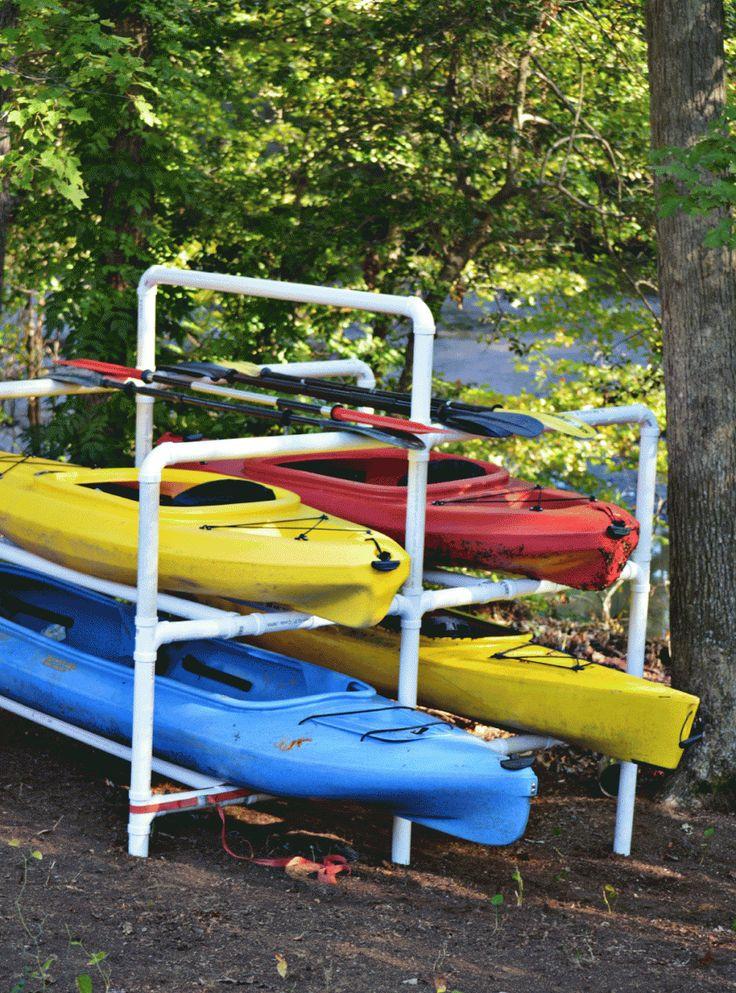 DIY Kayak Storage Rack  Multi kayak storage rack out of PVC piping from the