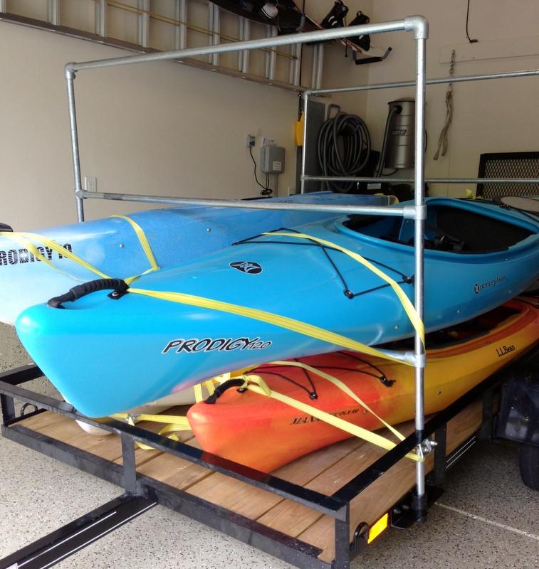 DIY Kayak Storage Rack  DIY Kayak Trailer Rack