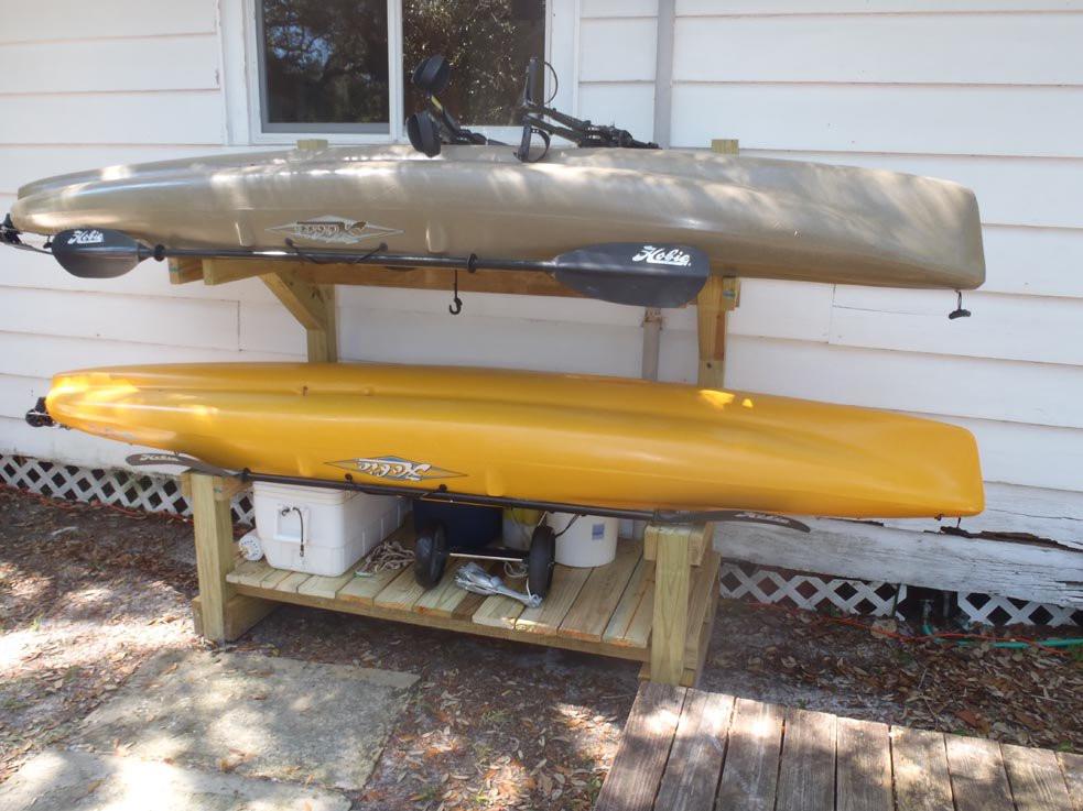 DIY Kayak Storage Rack  how do you store your kayak at home Pensacola Fishing Forum