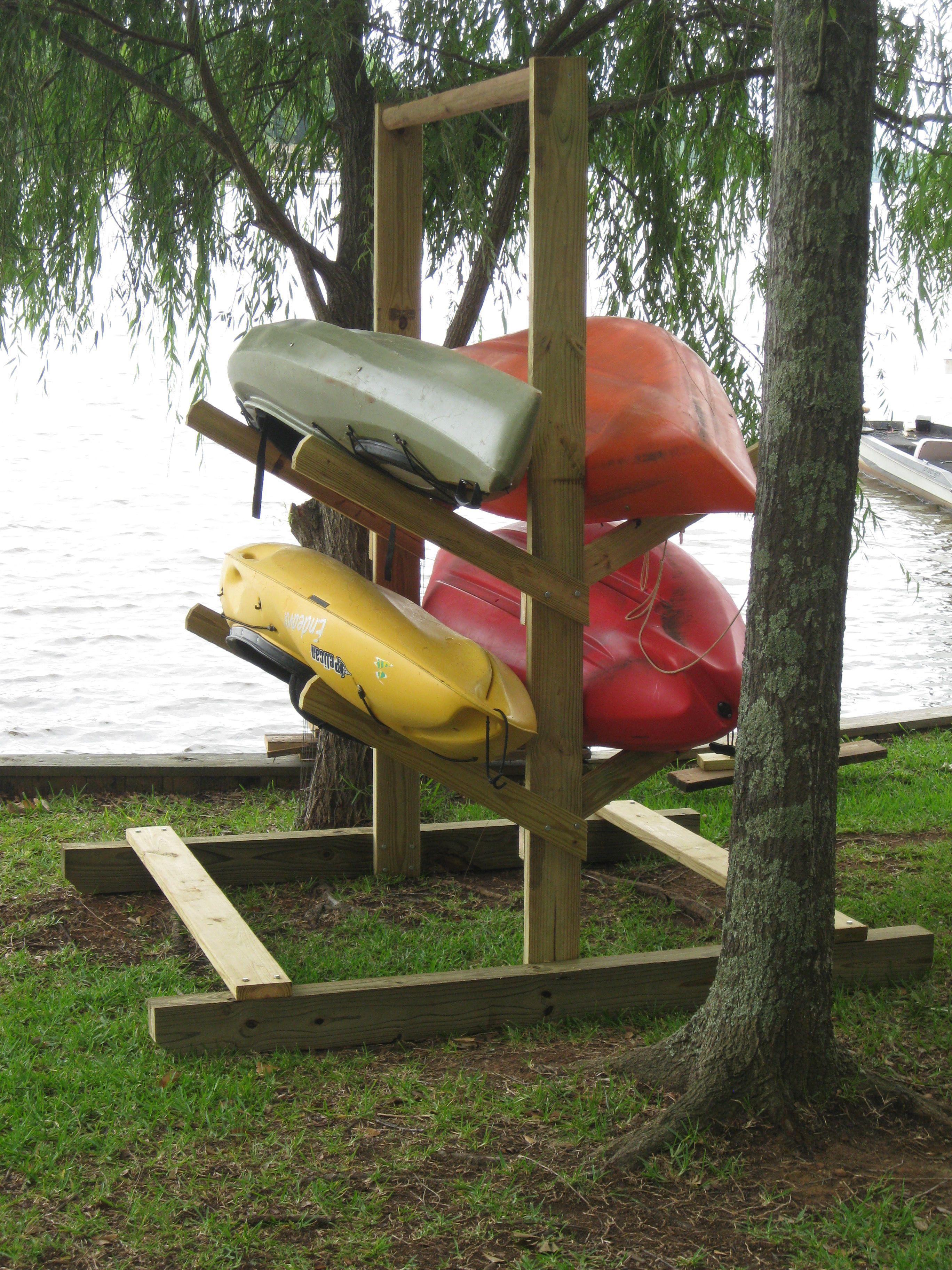 DIY Kayak Storage Rack  Homemade kayak rack For the Home in 2019