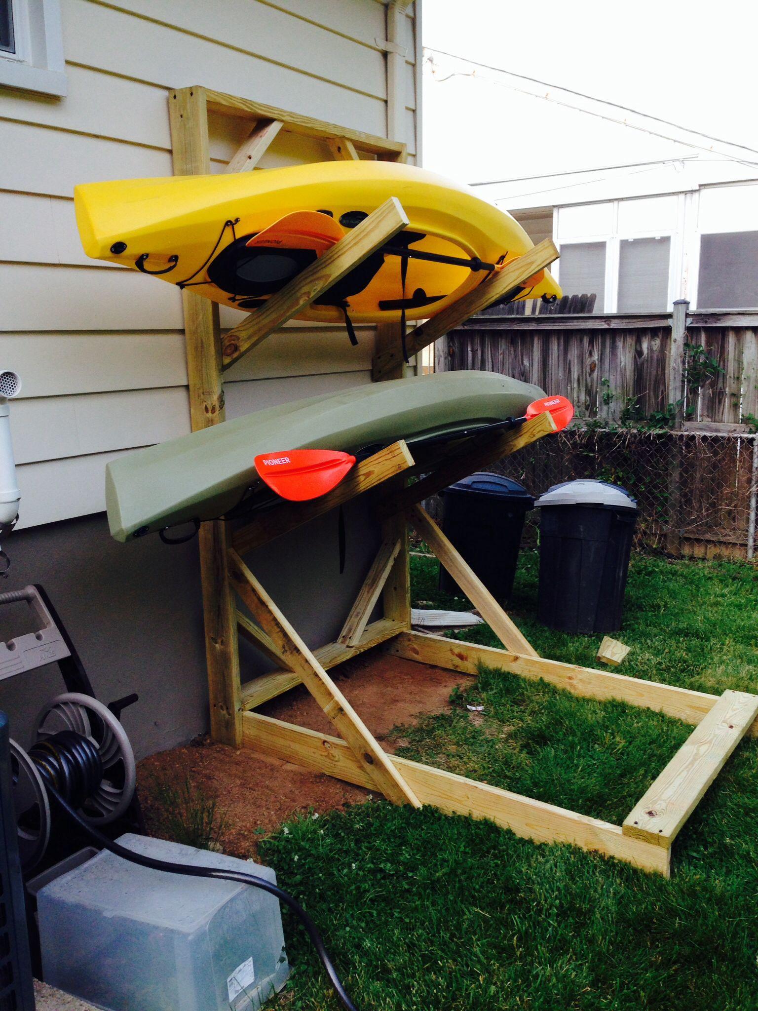 DIY Kayak Storage Rack  plete Diy outdoor canoe storage rack J Bome
