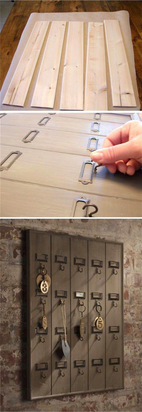 DIY Key Rack  419 best images about Home Decor jute burlap linen lace