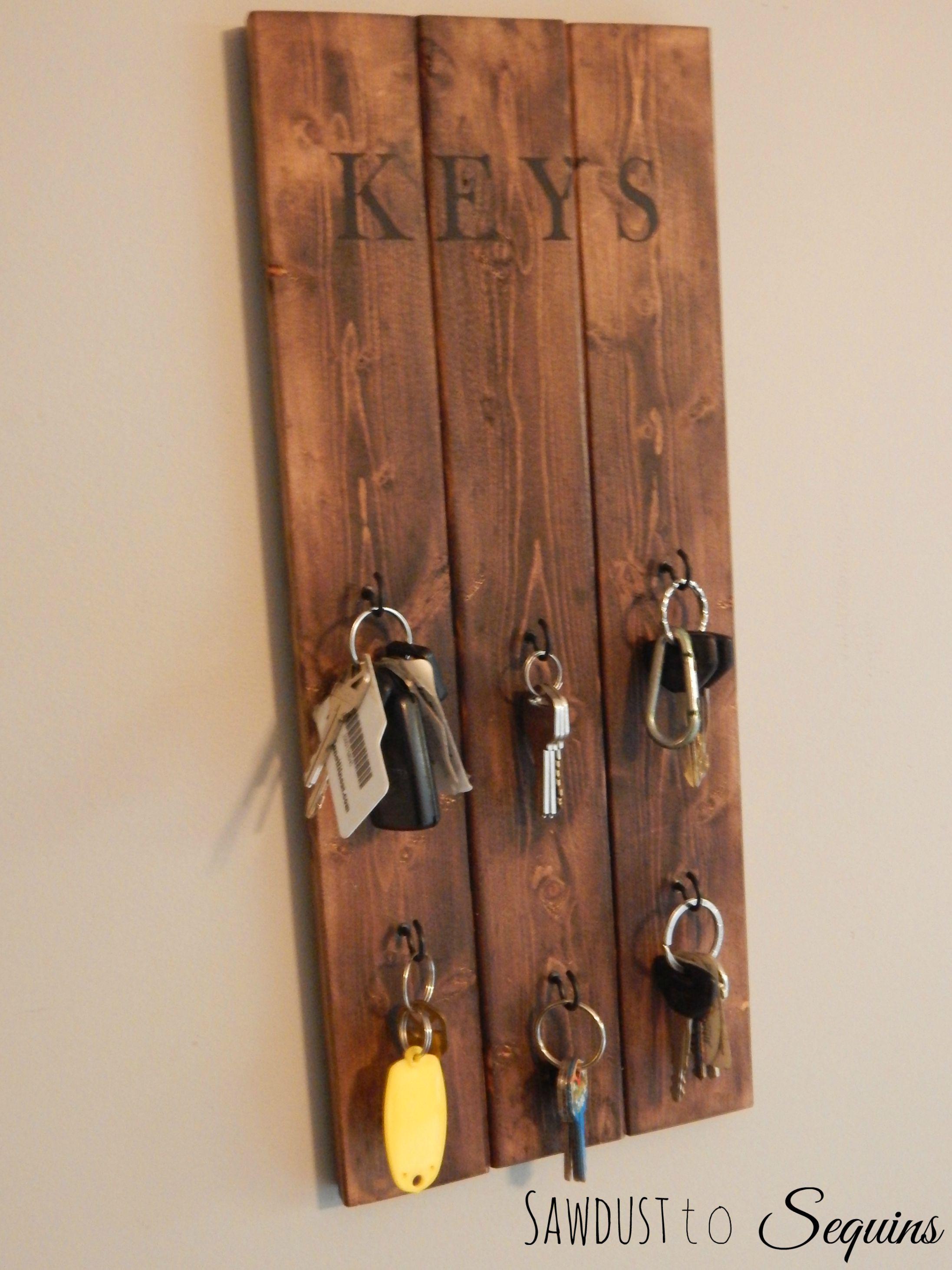 DIY Key Rack  DIY Key Holder