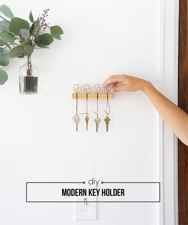 DIY Key Rack  DIY Modern Key Holder Francois et Moi
