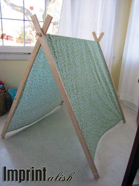 DIY Kids Tent  Imprintalish For the Kids DIY A Frame Tent