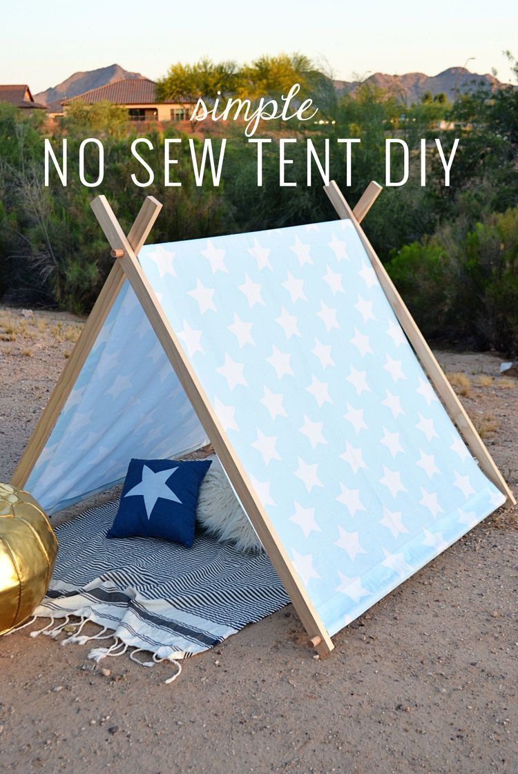 DIY Kids Tent  Simple No Sew Kid s Tent DIY sweet ava