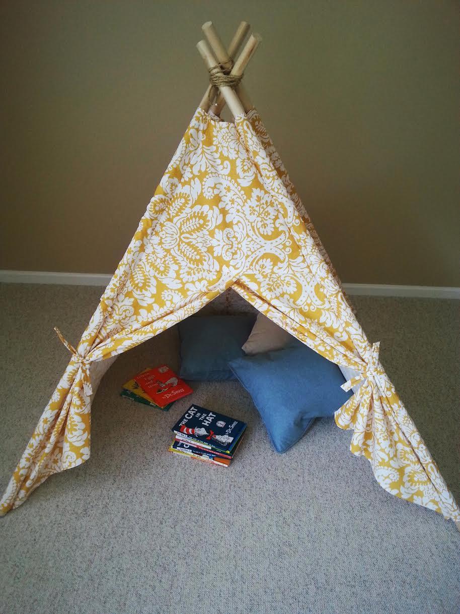 DIY Kids Tent  DIY Kids Teepee Tent Tutorial