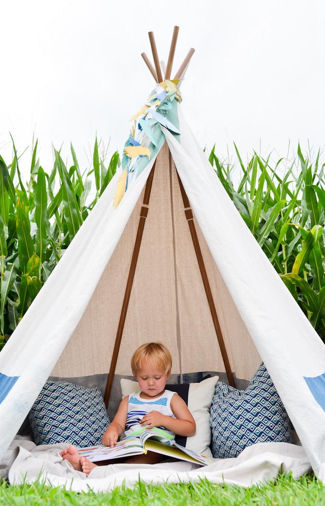 DIY Kids Tent  DIY No Sew Teepee Project Nursery