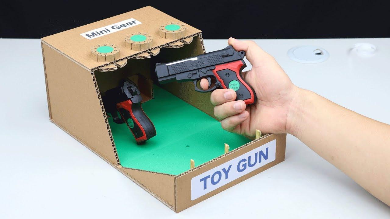 DIY Lock Box  Amazing DIY Toy Gun Safe Lock BOX from Cardboard