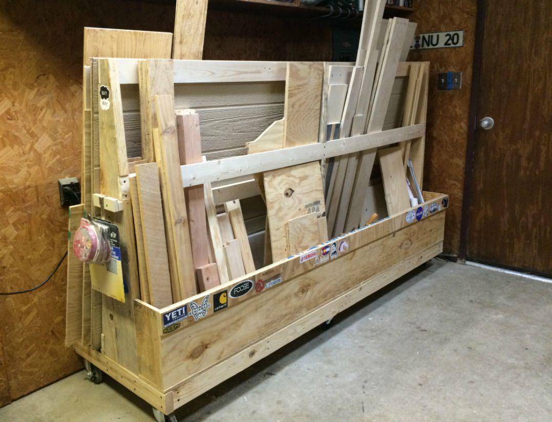 DIY Lumber Rack  DIY Rolling Lumber Rack Wilker Do s