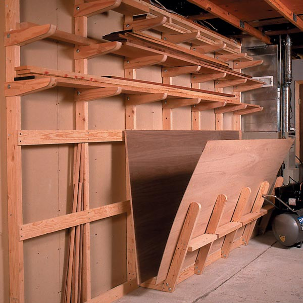 DIY Lumber Rack  Lumber Storage Rack Woodworking Plan from WOOD Magazine