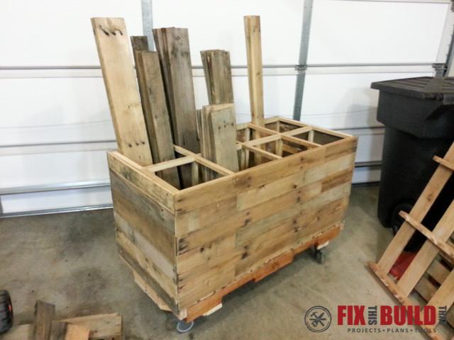 DIY Lumber Rack  DIY Pallet Wood Storage Rack