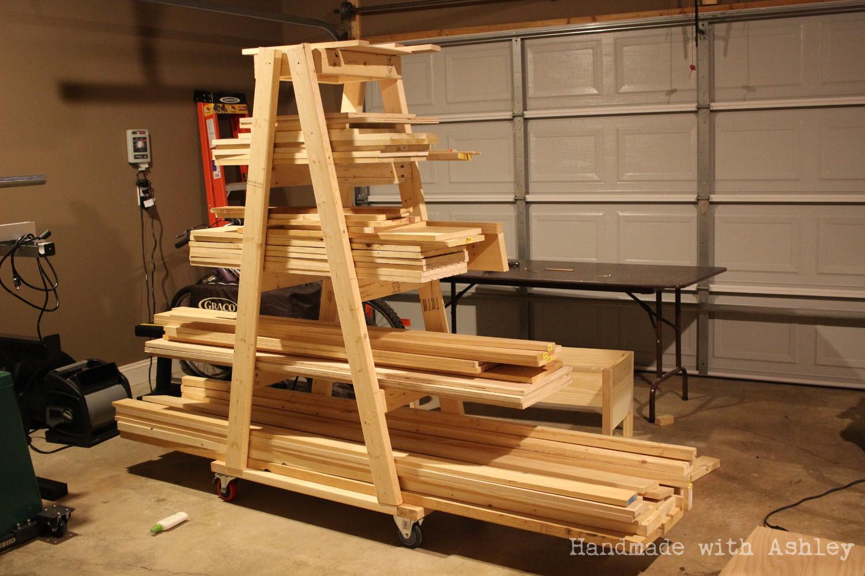 DIY Lumber Rack  DIY Mobile Lumber Rack Plans by Rogue Engineer