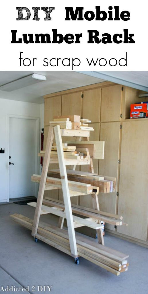 DIY Lumber Rack  DIY Mobile Lumber Rack Addicted 2 DIY