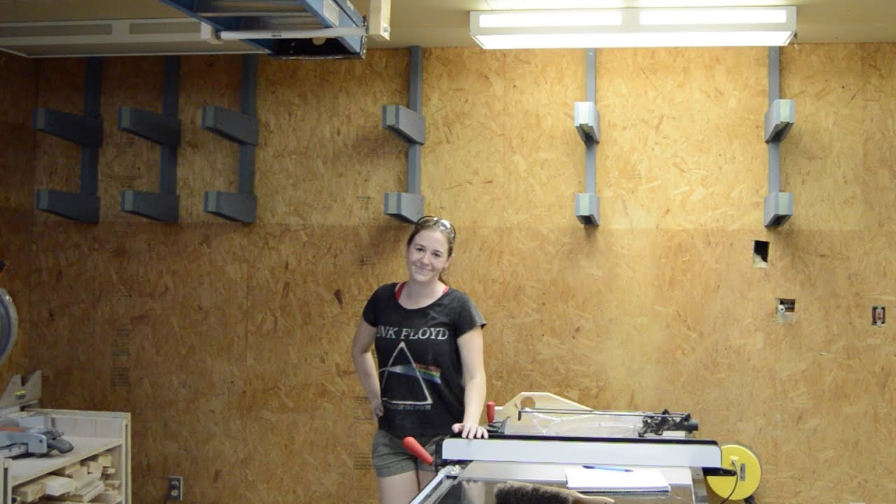 DIY Lumber Rack  DIY Wall Lumber Rack