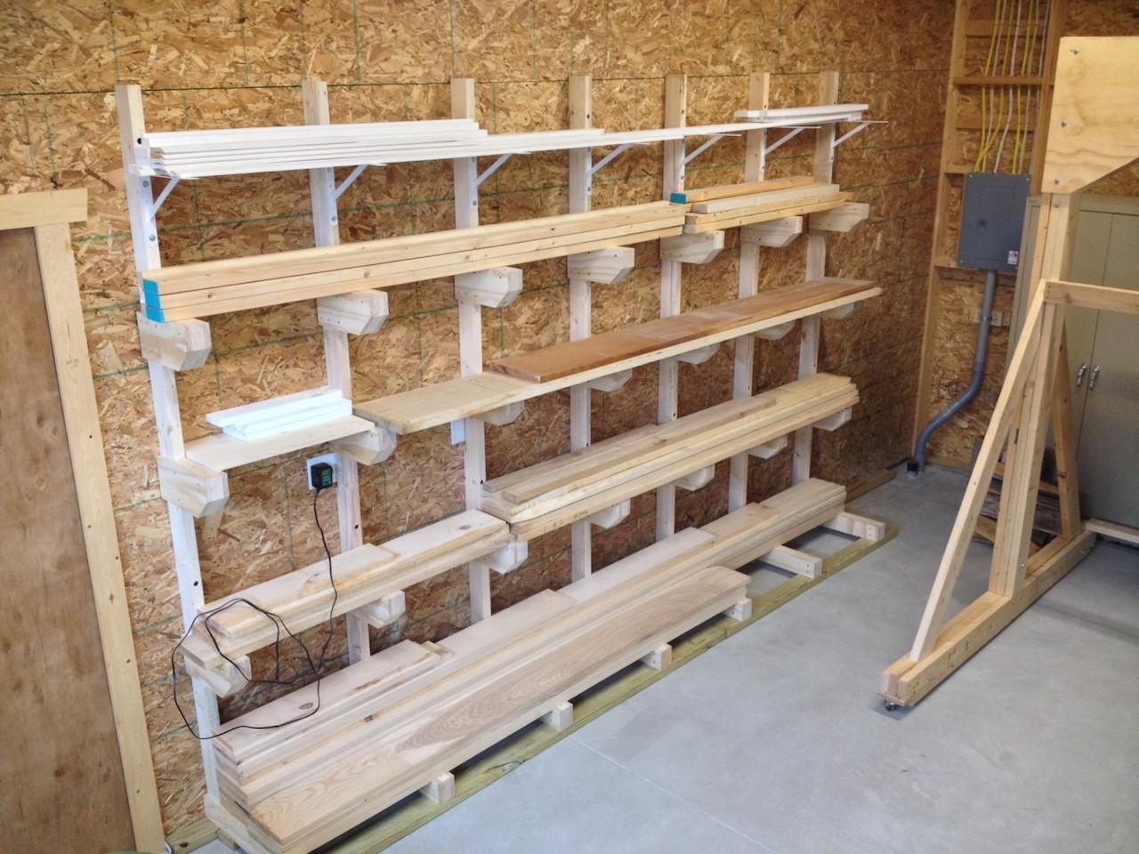 DIY Lumber Rack  Rob s Lumber Rack The Wood Whisperer