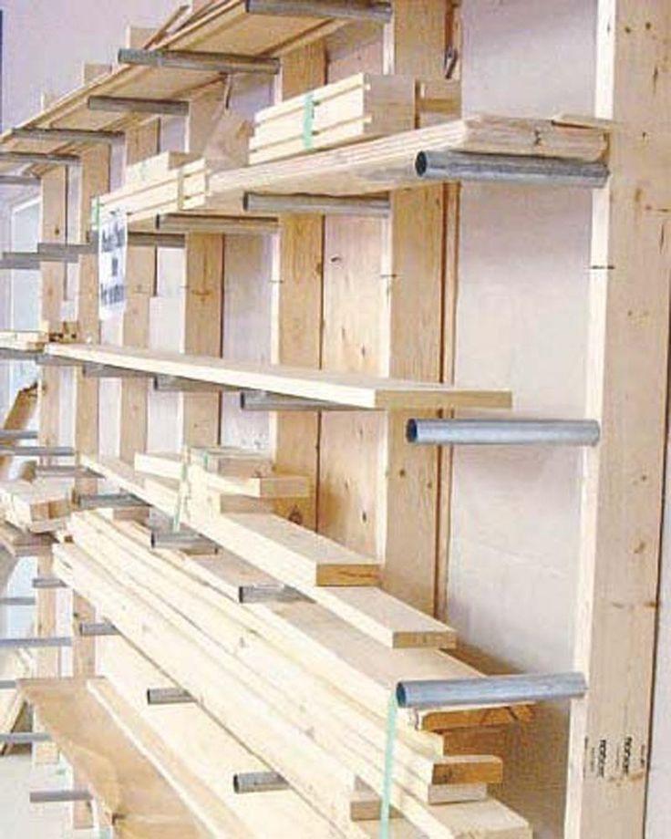 DIY Lumber Rack  Best 25 Lumber storage ideas on Pinterest