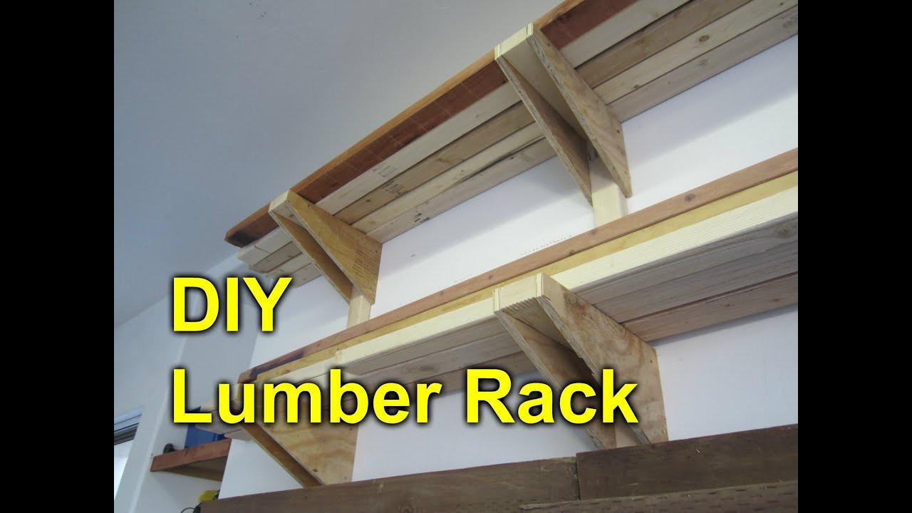 DIY Lumber Rack  Garage Lumber Rack Easy Cheap DIY Project