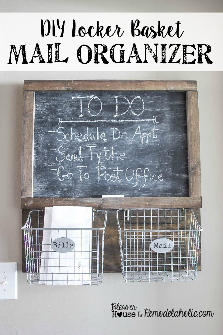 DIY Mail Organizer Wood  DIY Locker Basket Mail Organizer